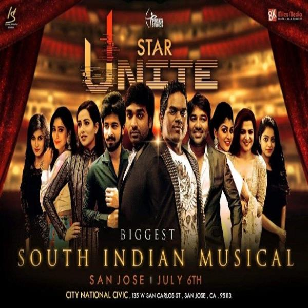Vijay Sethupathi and Yuvan Unite - Biggest Ever Star-Studded South Indian Dance and Musical Night Li