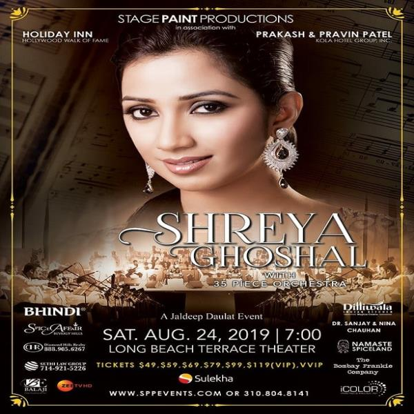 Shreya Ghoshal Live in Concert 2019 Los Angeles