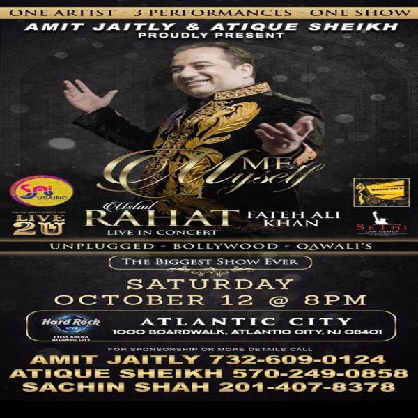 Rahat Fateh Ali Khan Live In Concert – New Jersey
