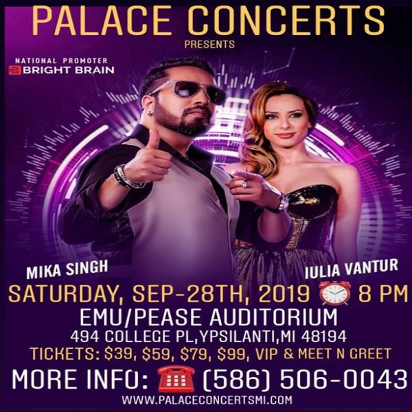Mika Singh and Iulia Vantur Live In Detroit