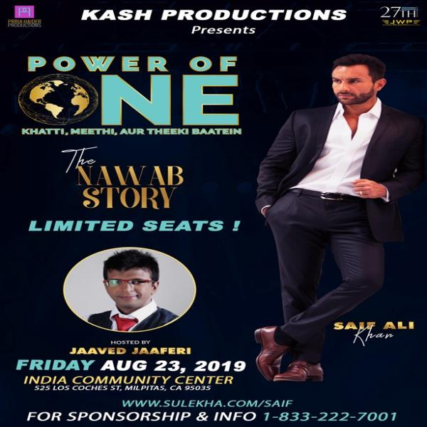 Power Of One - The Nawab Story with Saif Ali Khan - Bay Area