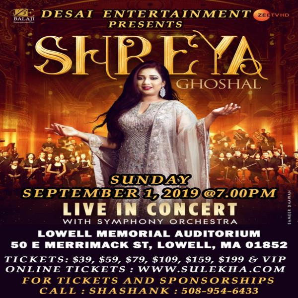 Shreya Ghoshal Live In Concert - Boston
