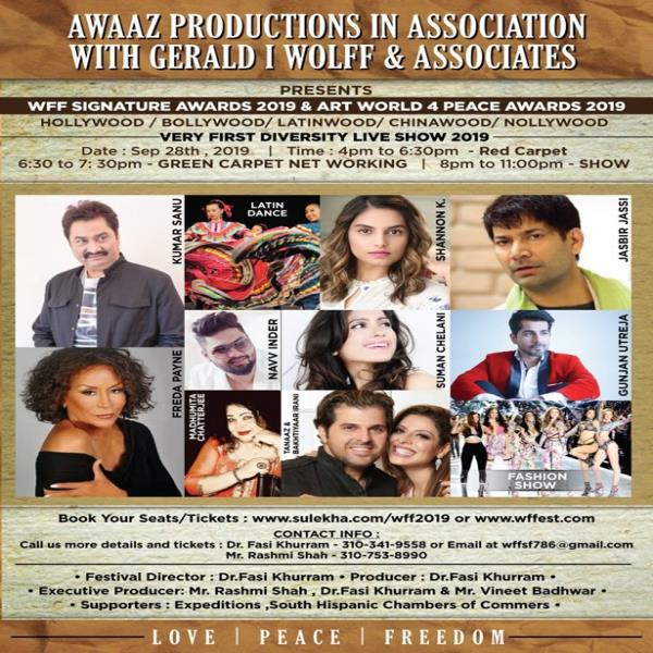 "WFF Signature Awards 2019 & Art World 4 Peace Awards 2019 (""First Diversity Live Show and Awards "")"