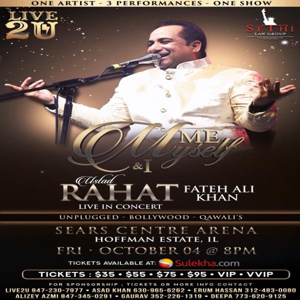 Rahat Fateh Ali Khan Live In Concert – Chicago