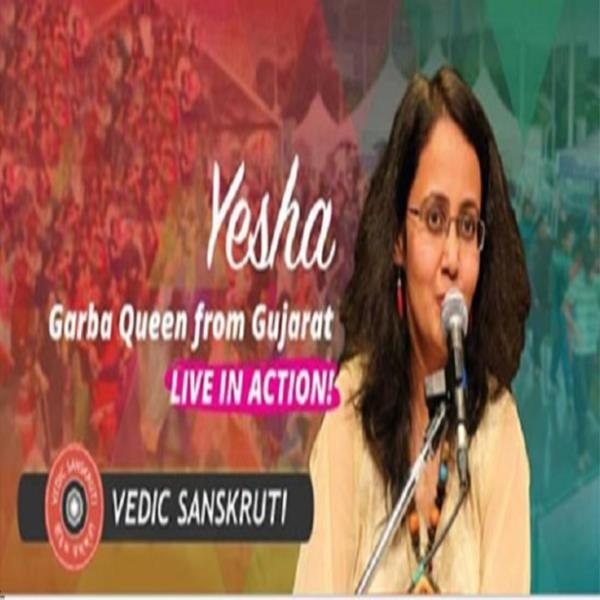 YESHA the Garba Queen from Gujarat with live orchestra