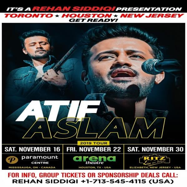 Atif Aslam Live in Concert 2019 - Houston