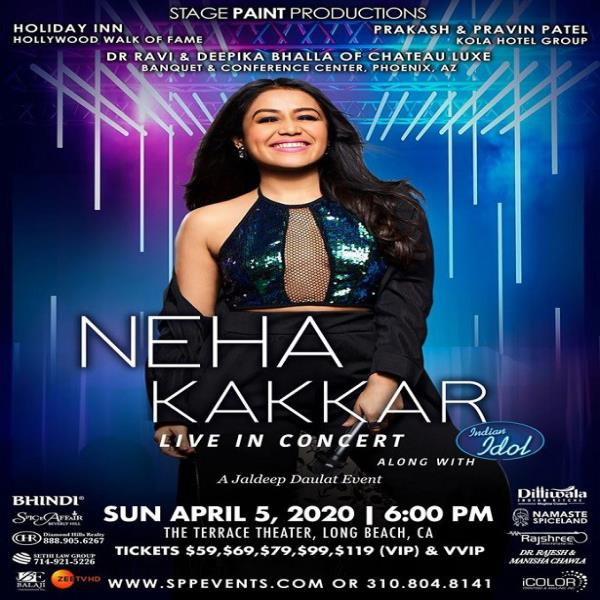 Neha Kakkar Live in Concert 2020 with Indian Idol - Los Angeles