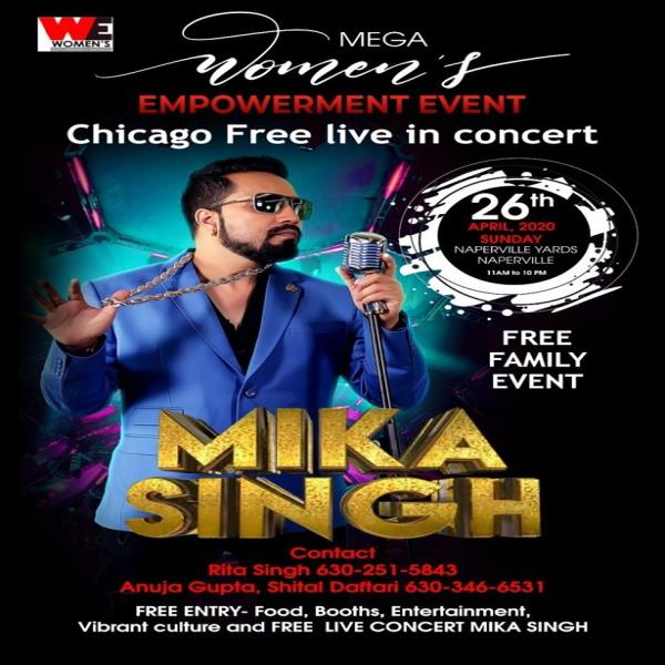 MIKA SINGH LIVE IN CONCERT AT WE WOMEN'S EMPOWERMENT EXPO 2020