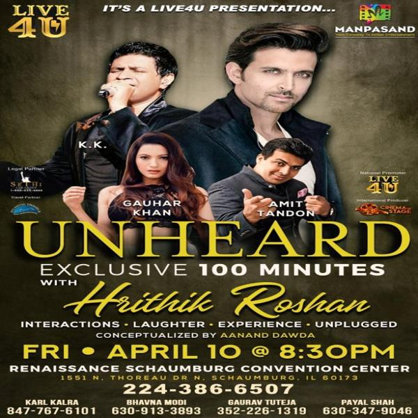 Unheard Concert With Hrithik Roshan, Amit Tandon Live In Chicago