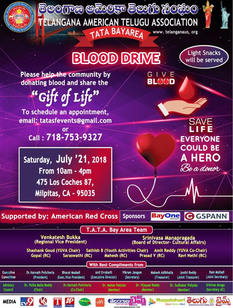 TATA Bay Area Blood Drive